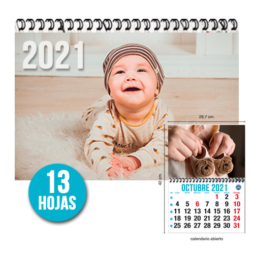 CALENDARIO PARED TIPO REVISTA 29,7x42cm