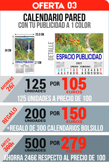 OFERTA 03 CALENDARIOS PARED BIMENSUALES