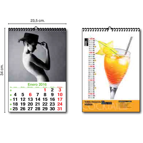 CALENDARIO PARED MENSUAL W-0 - 23 cm