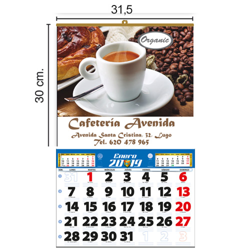 CALENDARIO TODO COLOR 31,5x30cm MENSUAL