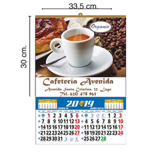 CALENDARIO TODO COLOR 33,5x30cm BIMENSUAL