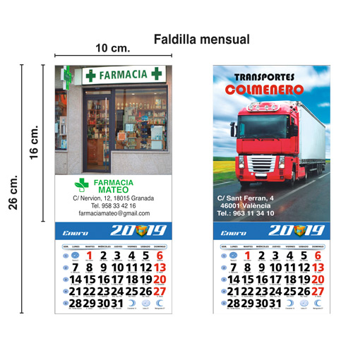 CALENDARIO TODO COLOR NEVERA IMAN 10x26cm