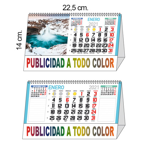 CALENDARIO SOBREMESA FALDILLA TODO COLOR 7h